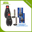 New Uncut Keyless Entry Key Fob Remote Replacement Start for 2009 2010 Dodge