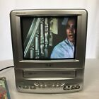 RCA TV VHS Dual Combo T09085 Silver Television with Remote Retro Vintage 90s