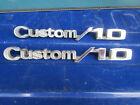"""1967-72 Chevy """"Custom 10"""" fender emblems 3944759 C10 Deluxe Suburban Blazer K10"""