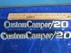 "1969-72 Chevy ""Custom Camper 20"" fender emblems 3/4 ton truck C20 69 70 71 72"