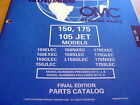 Evinrude Johnson 150 175 HP 105 JET Parts Manual 1998