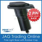 AQUATRACK RECTANGULAR NYLON STERN LIGHT BASE - Boat/Anchor 2-Pin Plug-in Socket