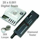 Diamond tool kit : 20g x 0.001g Digital Jewelry Scale - Diamond Tester - Loupe