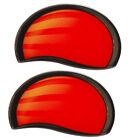 SUN TRACKER MARINE 145432 BLACK/SILVER/RED/YELLOW FOAM RAISED BOAT DECALS PAIR