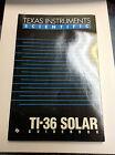 RARE VTG TI TEXAS INSTRUMENTS TI-36 Owners Service Manual Calculator MINT