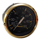 Faria Boat Speedometer Gauge SE9311A | 65 MPH / Black / Gold