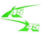MASTERCRAFT 2011 X-45 OEM LIME GREEN DESIGNATOR BOAT DECALS (SET OF 2) 7501470