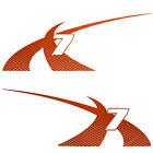 Mastercraft X-7 Designator-N Tb Orange Vinyl Boat Decals (Set Of 2) 7501403