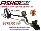 "Fisher F70 Metal Detector w/ the Hot New 11"" DD Coil - FREE Shipping"