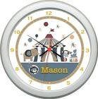 Personalized Circus Act  Wall Clock Boy Nursery Decor Gift