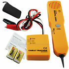 NETWORK CABLE TRACKER w/ Sender & Receiver Telephone Wire Tracer Detector Tester