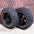 (2)  Dunlap Vintage Steel Studded Snow Tires