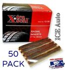"50 PACK Xtra Seal Radial Inserts 12-361 Tubeless Tire Repair 4"" MADE IN USA"