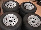 """4- 15"""" 5 lug  Trailer Wheels 5x4.5 bolt circle Silver Mod 225B W/Nitrogen"""