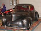 """Willys : AMERICAR 2 DOOR COUPE 1937 ALL STEEL WILLYS W/""""41"""" NOSE & MATCHING TEAR DROP TRAILER"""