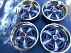 """SET OF 4 PONTIAC RALLY 11 15X7"""" WIDE  WHEELS NICELY RESTORED NEW RINGS AND CAPS"""