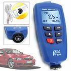 CEM DT-156 Paint Coating Thickness Gauge Auto Meter F/NF USB 0~1250µm V-groove