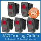 5 x 12V~24V RED LED CARLING/ARB/NARVA-STYLE ROCKER SWITCH DUAL LIGHT - Boat/4x4