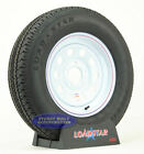 """(2)- Trailer Tires LoadStar ST205/75R15 Radial White Mod 5 Bolt 15"""" Load Range C"""