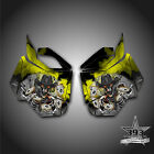 SKI-DOO REV XM SUMMIT SNOWMOBILE SLED SIDE PANEL GRAPHICS WRAP OUTLAW YELLOW