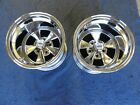 PAIR OF NEW 15x12 CRAGAR SS WHEELS SPECIAL 4 1/2 BACKSPACE CHEVY 5 on 4 3/4 CAR