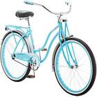 "26"" Schwinn Turquoise Womens Cruiser Bike Vintage Bicycle Single Speed Rear Rack"