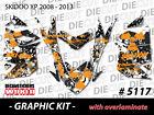SKI-DOO XP MXZ SNOWMOBILE SLED WRAP GRAPHICS STICKER DECAL KIT 2008-2013 5117