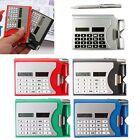 3 In 1 Mini Portable Multifunction Solar Power Calculator Card Holder Case New