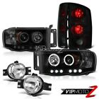 2004 2005 Ram 2500 WS Headlight Projector Halo LED Rear Signal Tail Lamps Bright