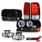 CCFL Angel Eye Halo Headlamps LED Brake Tail Lights FogLight 2000-2006 Yukon SLT