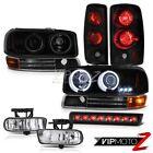 Brightest CCFL Halo Headlight Rear Taillight Fog Roof Stop LED 00-06 Yukon XL V8