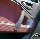 ALFA ROMEO MITO 2008+ LEATHER 2 DOOR HANDLE COVERS RED COLOR stitching