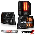 07-13 Silverado Headlamps led drl euro chrome third brake lamp tail lamps LED