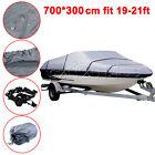 Gray 19-21ft  Waterproof Heavy Duty Speedboat Boat Cover Match Fish-Ski V-Hull
