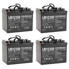 UPG UB12350 12V 35AH Internal Thread Battery for Pride PMV501 Hurricane - 4 Pack