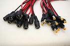 10 pair 5.5-2.1mm Female Male DC Power Jack Connector Pigtail CCTV Camera
