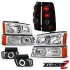 Factory Style Headlight Bumper Sinister Black Brake Lights LED SMD DRL Foglights