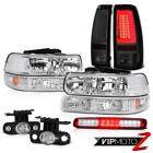 99-02 Silverado 5.3L Taillights Headlamps Roof Cab Light Bumper Fog Lights LED