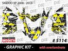 SKI-DOO XP MXZ SNOWMOBILE SLED WRAP GRAPHICS STICKER DECAL KIT 2008-2013 5114