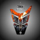 2010 - 2015 POLARIS PRO RMK - RUSH Decal Hood Wrap Graphics Guardian Orange