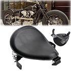 "Motorcycle  3"" Skull SOLO Saddle Seat Bracket Spring Black For Honda Kawasaki"