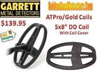 "Garrett AT Max/Pro/Gold 5x8"" DD Coil Great Depth & Target Separation Ships FREE"