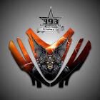 Arctic Cat M7 M8 M1000 Crossfire 05-11 Graphics Decal kit Hood Guardian Orange