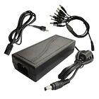 12V 5A power adapter + 1 to 8 power splitter + AC plug for CCTV Security Camera