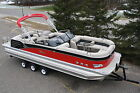 New windshield 27  triple tube pontoon boat with 300 Verado and trailer