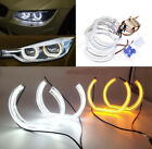 Switchback LED Angel Eye Halo Rings w/ Acrylic Cover For BMW 3 Series Headlights