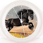 "Beautiful Black Horse 10"" Wall Clock W57 Nice Gift or Room wall Decor NEW"