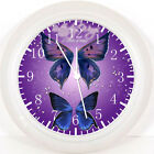 "Beautiful Purple Butterfly 10"" wall Clock E124 Nice Gift or Room wall Decor New"