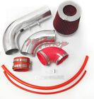 Red For 2PC 2002-2005 Chevy Cavalier Pontiac Sunfire 2.2L L4 Air Intake Kit
