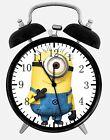 "Cute Funny Minions Alarm Desk Clock 3.75"" Room Office Decor E47 A Nice Gift"